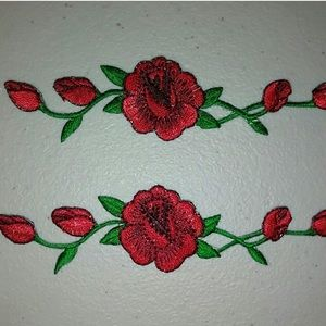 2-Piece Set Rose Iron-On Patches